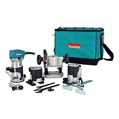 Makita RT0701CX8 1 HP Trimmer/Router Kit, Blue