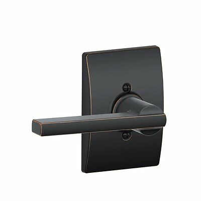 Schlage F170LAT716CEN Century Collection Latitude Decorative Trim Lever, Aged Br