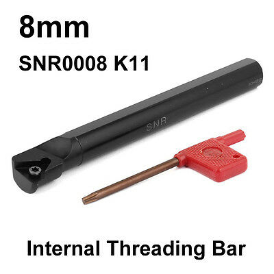 Carbide Indexable Tip CNC Internal Threading Lathe Tool Holder SNR 8mm Bar K11