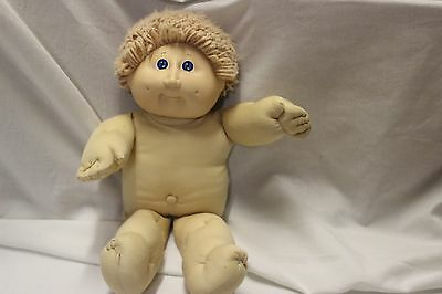 """1984 16"""" Cabbage Patch doll with short blonde hair, blue eyes. Nude"""