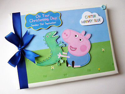 Personalised George Peppa Pig Boy First/1St Birthday Guest Book - Any Design