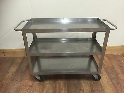Heavy Duty Stainless steel catering trolley 3 tier large