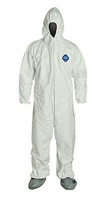 Dupont TY122SWHXL002500 Coverall Serged Seams X-Large White - CASE OF 25