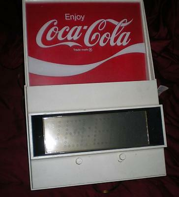 Hard To Find 70's Lighted Enjoy Coca Cola Everbrite Electric Digital Clock