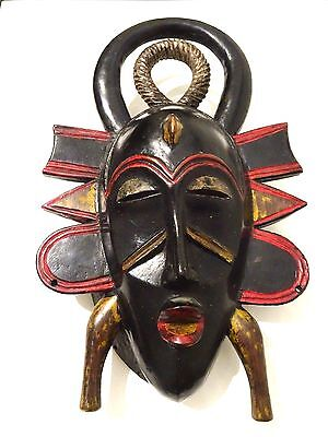 Hand Carved Wooden African KPELIE SENUFO Mask West Africa