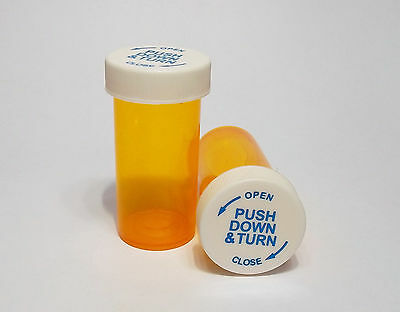 Brand New Empty RX Prescription Pill Bottles - Child Resistant or Snap Lid