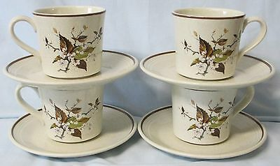 Royal Doulton Lambethware Wild Cherry LS1038 Cup & Saucer set of 4