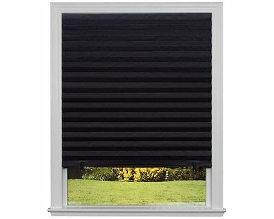 Redi Shade 1817205 Out Pleated Shade, 48-by-72-Inch, 6-Pack, Black