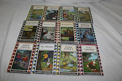 12 Vintage Bedtime story books by Thornton w. Burgess.