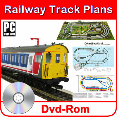 Hornby Compatible Model Railway Train Track Plans 130+ Layouts Oo Gauge