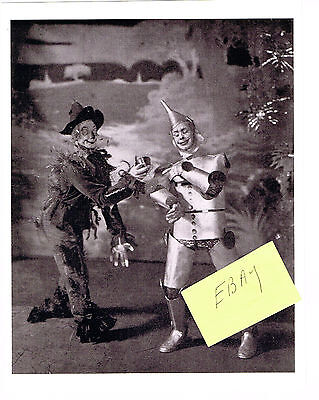 The Wizard Of Oz 1902 Tin Man Scarecrow Theater Photo New! Stone & Montgomery