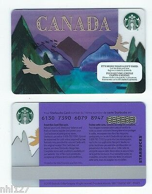 2017 Starbucks CANADA GOOSE  RELOADABLE GIFT CARD