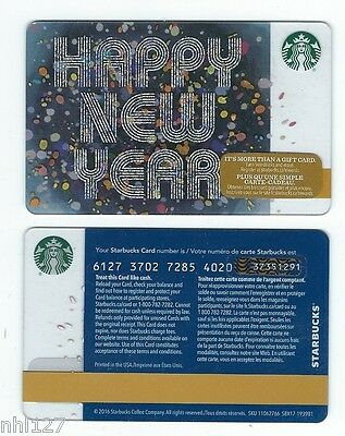2017 Starbucks HAPPY NEW YEAR CANADA  RELOADABLE GIFT CARD