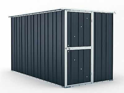 Garden Shed 1.55m x 3.07m x 1.82m Granite Grey Tool Storage Sheds Colorbond NEW