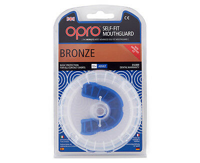 Opro Bronze Self Fit Mouth Guard - Blue