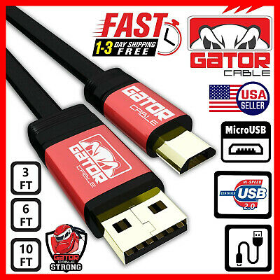 Micro USB Cable 2.0 Fast Charge Sync Data for Samsung J S4 S6 S7 Android HTC LG