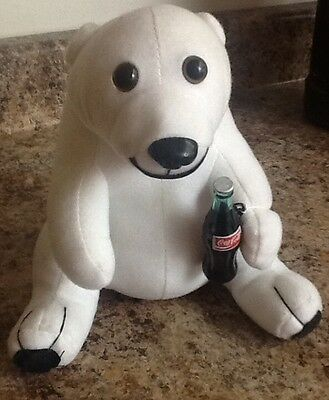 Coca Cola Polar Bear with Coke Bottle Collector!