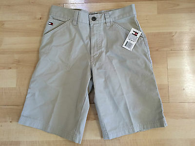 TOMMY HILFIGER BOYS SHORTS SIZE 12 KHAKI BEIGE NEW with TAGS