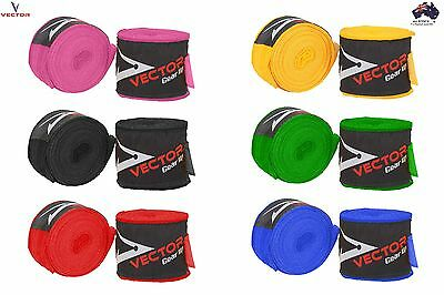 Vector Pro hand wraps pair 4.5 metres for Boxing, MMA, Kickboxing and Muay Thai