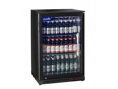 Prodis Commercial Quality Single Door Bottle Cooler - 126ltrs LED lighting