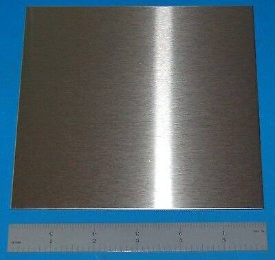 "Stainless Steel 304 Sheet, .048"" (1.22mm), 6x6"""