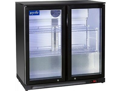 Prodis Commercial Quality Double Hinged Door Bottle Cooler - 220ltrs LED light