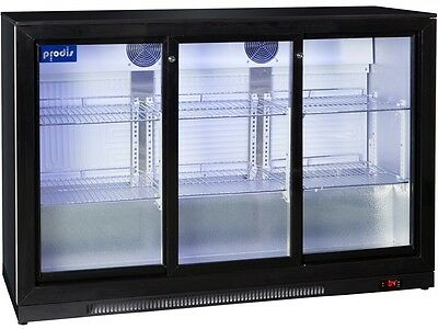 Prodis Commercial Quality Triple Sliding Door Bottle Cooler - 300ltrs LED light