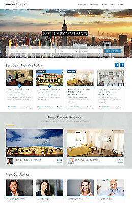 Real Estate Website with Google Maps For Sale
