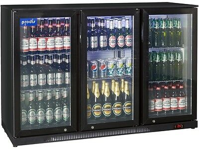 Prodis Commercial Quality Triple Hinged Door Bottle Cooler - 300ltrs LED light
