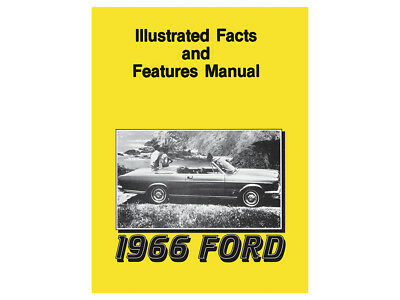 New 1966 Galaxie Facts-Features Book Sales Literature 500XL LTD 7-Litre Ford