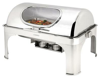 NEW 8.5ltrs Super Luxury Rectangular Chafing Dish Chafer Set  Roll Top Lid