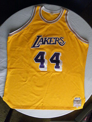 Mitchell Ness M N Los Angeles LA Lakers Jerry West Authentic Jersey size 56  3XL 8041cad41