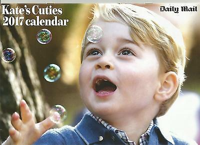 Prince William / Kate Middleton - Katie's Cuties 2017 Calendar Daily Mail New