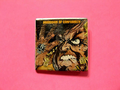 Corrosion Of Conformity Vintage Square Button Badge Pin Made In Canada