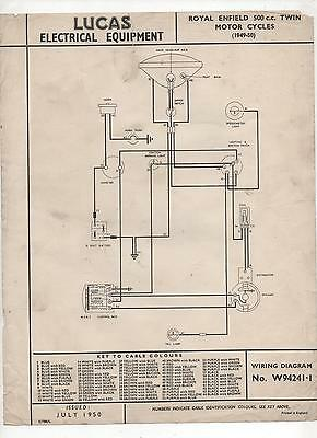 royal enfield wiring diagram royal enfield, motorcycle manuals, literature, vehicle ... 1956 indian royal enfield wiring diagram