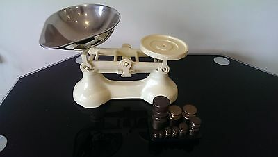 SET OF VINTAGE VICTOR COUNTERBALANCE WEIGHING SCALE's