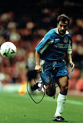 Pierluigi CASIRAGHI SIGNED Autograph 12x8 Photo AFTAL COA Chelsea Italy