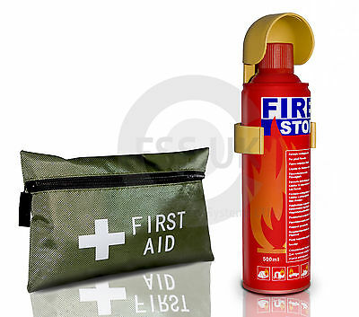 500G Easy Use Fire Extinguisher+ 42 Pcs First Aid Kit For Cars Caravan Home