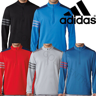 Adidas Golf 2018 Competition Mens 1/4 Zip Pullover Climacool Stretch Sweater