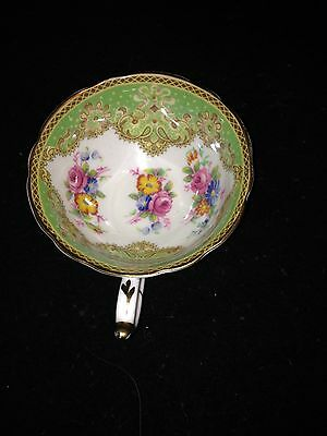 Vintage Paragon Teacup With Flowers & Green Inside