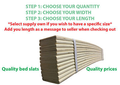 Single Replacement Bed Slat- Choice Of X3 Sizes - Brand New