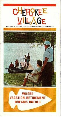 Cherokee Village Vacation Retirement Community Arkansas Vintage Brochure