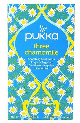 Pukka Tea - Three Chamomile - (Pack of 2) 30g net weight each