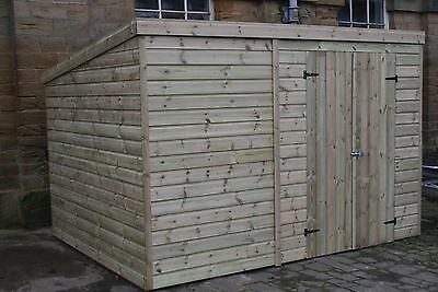 Wooden Sheds 10x8 12x8 14x8 Pressure treated tongue and groove Shed