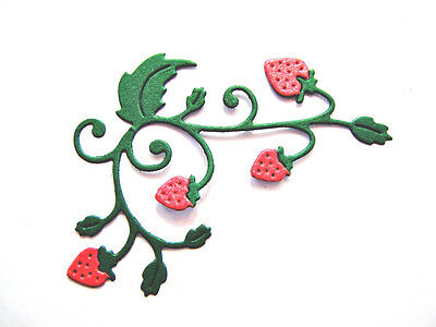 J.s 5 Assembled or 8 DIY Strawberry Corner Die Cuts Any Colour /& Card