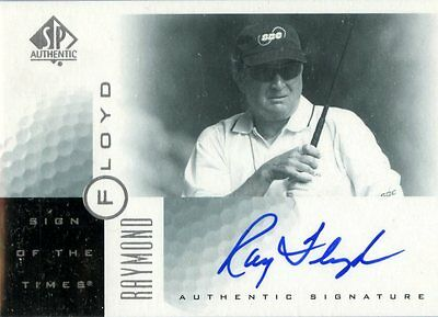 Raymond Floyd - 2001 SP Authentic - Sign of the Times - Card # RF