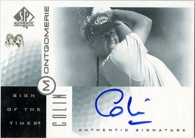 Colin Montgomerie - 2001 SP Authentic - Sign of the Times -Card # CM