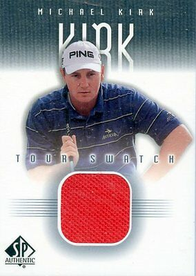 Michael Kirk - 2001 UD SP Authenic - Tour Swatch - Card # MKi-TS