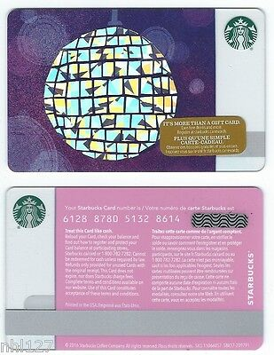 2016 Starbucks CANADA GLOBE RELOADABLE GIFT CARD