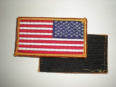 Us Military Right Shoulder Flag Patch With Hook And Loop Reverse